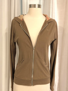 BURBERRY Zip-Front Hooded Sweatshirt