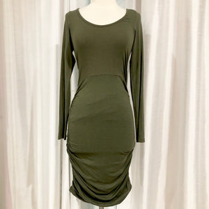 EXPRESS Olive Green Short Long Sleeve Dress Size XS