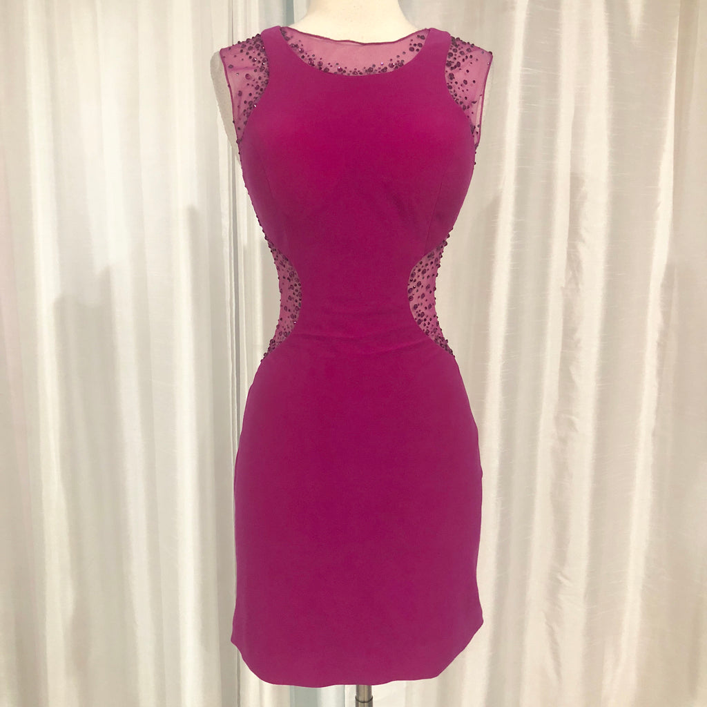 BOUTIQUE Short Fuchsia Form Fitting Gown Size M