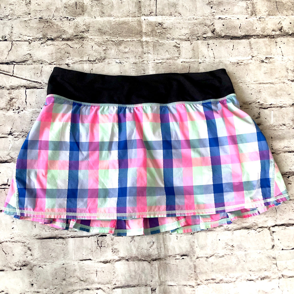 LULULEMON Multi-Color Plaid Skort Size 8
