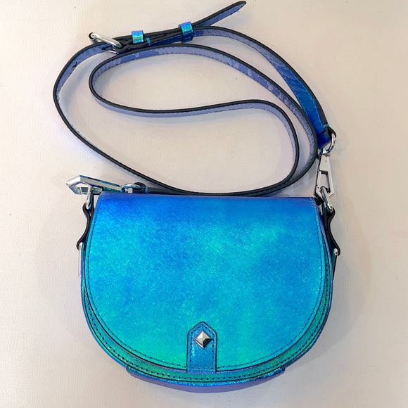REBECCA MINKOFF Small Iridescent Astor Saddle Crossbody NWT