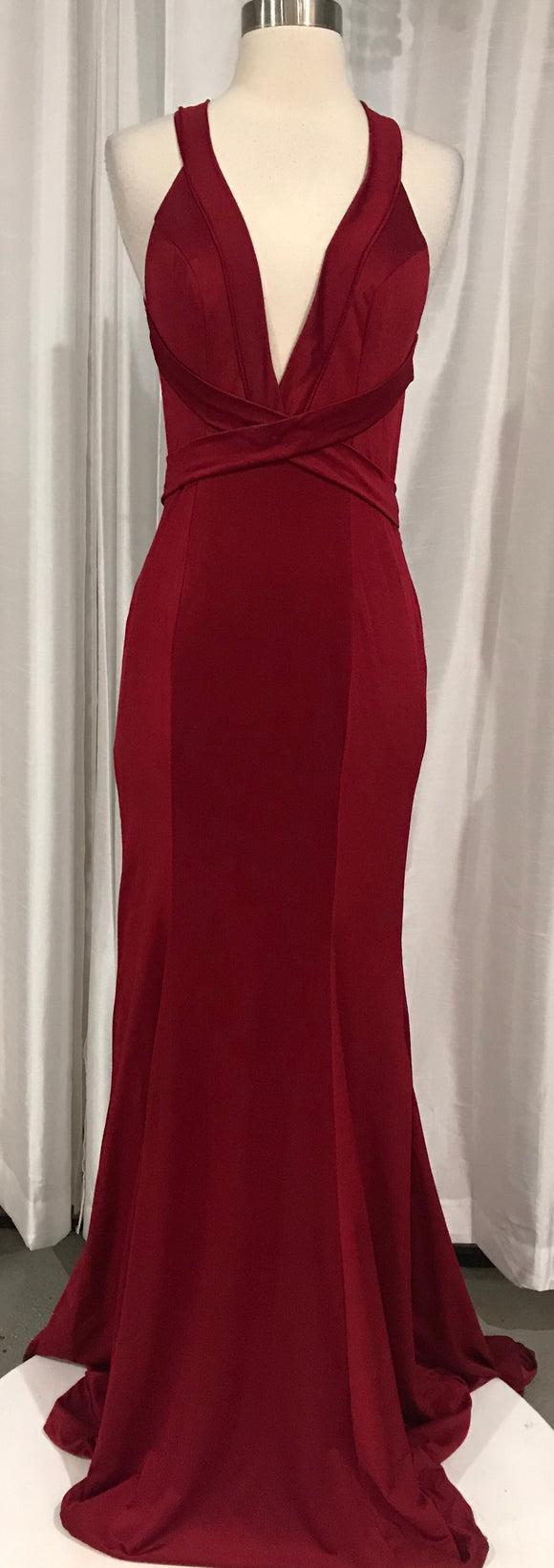 BOUTIQUE Red Strappy Gown Size Small