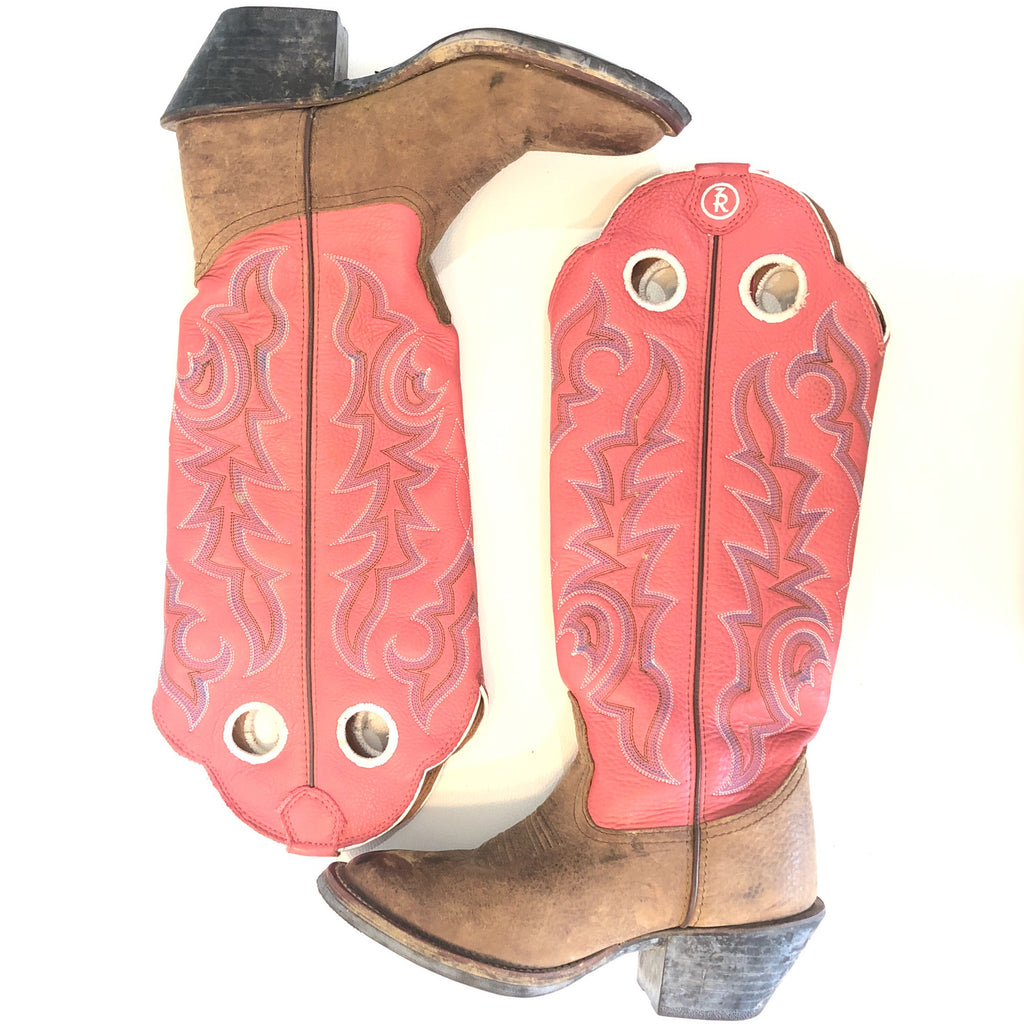 TONY LAMA Women's 3R Collection Buckaroo Western Boots Size 6
