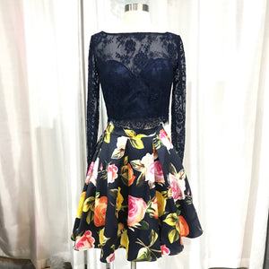 BOUTIQUE Two Piece Gown With Floral Skirt Size 7/8