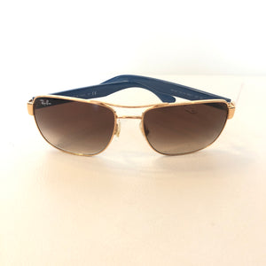 RAY-BAN Full Rim Gold And Gradient Sunglasses