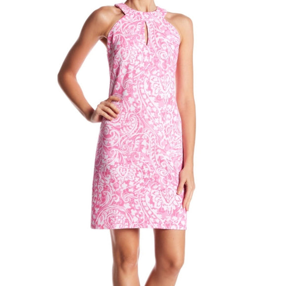 VINCE CAMUTO Pink Patterned Dress NWT Size 2