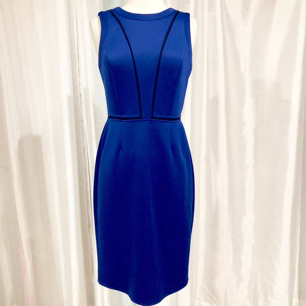 VINCE CAMUTO Short Cobalt Blue Form Fitting Dress Size 4 NWT