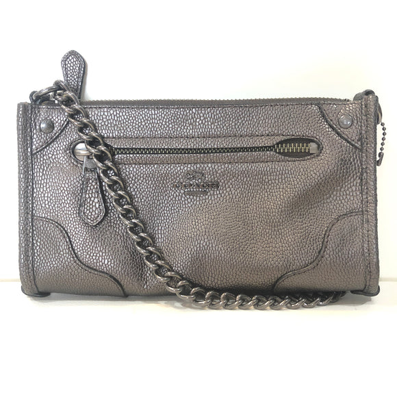 COACH Gunmetal Mickie Crossbody Handbag