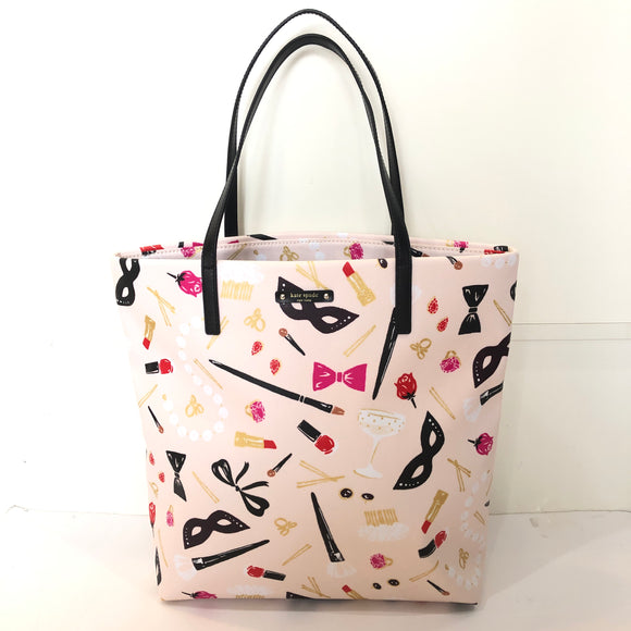KATE SPADE Steal The Scene Bon Shopper Canvas Tote Handbag