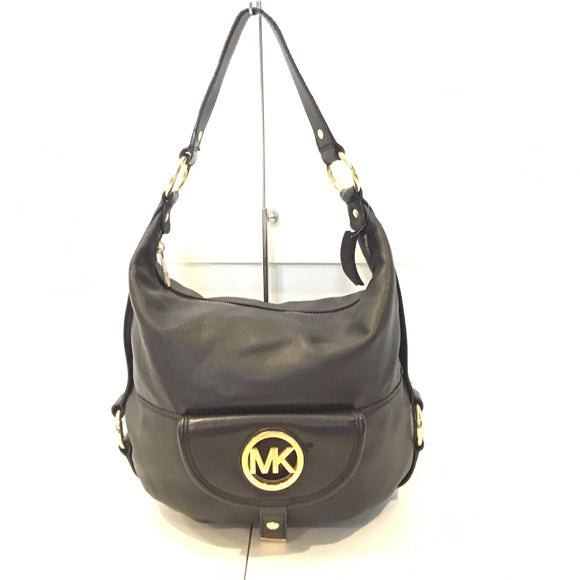 MICHAEL KORS Black Handbag With Gold Details