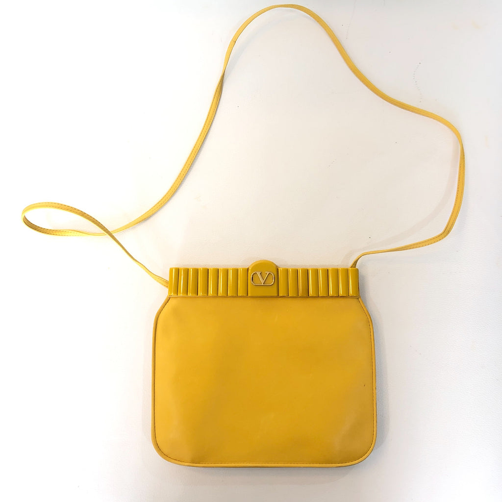 VALENTINO GARAVANI Vintage Yellow Shoulder Bag