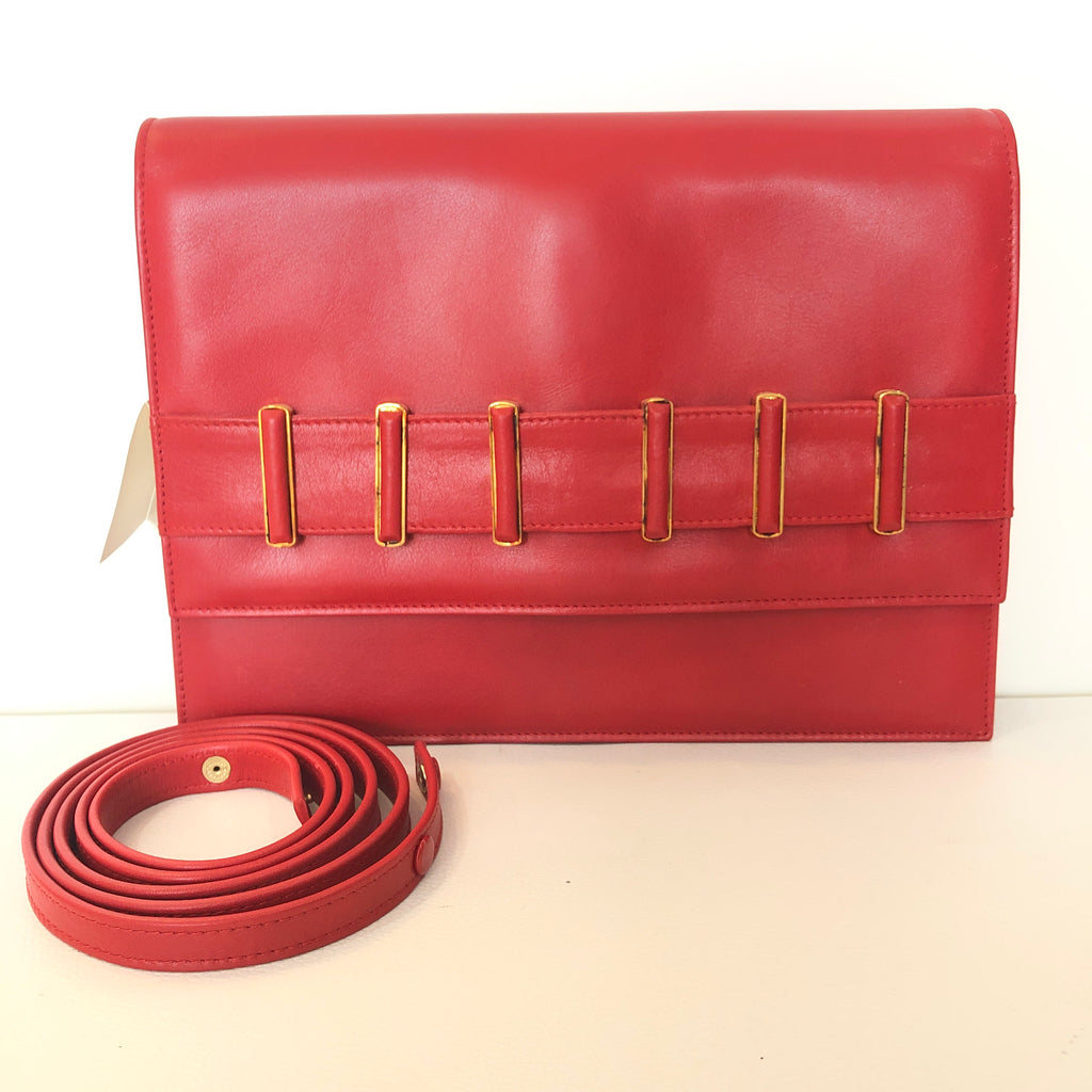 VALENTINO GARAVANI Vintage Red Clutch/ Shoulder Bag NWT