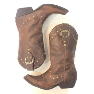 BOUTIQUE Brown Cowboy Boots Size 7.5