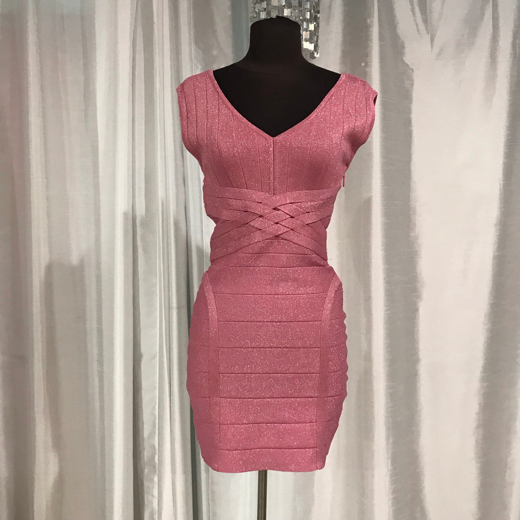 BOUTIQUE Sparkly Pink Body-con Dress Size Medium