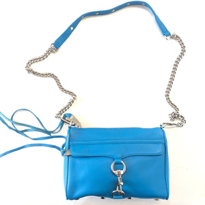 REBECCA MINKOFF Blue Mini M.A.C Shoulder/ Crossbody Handbag