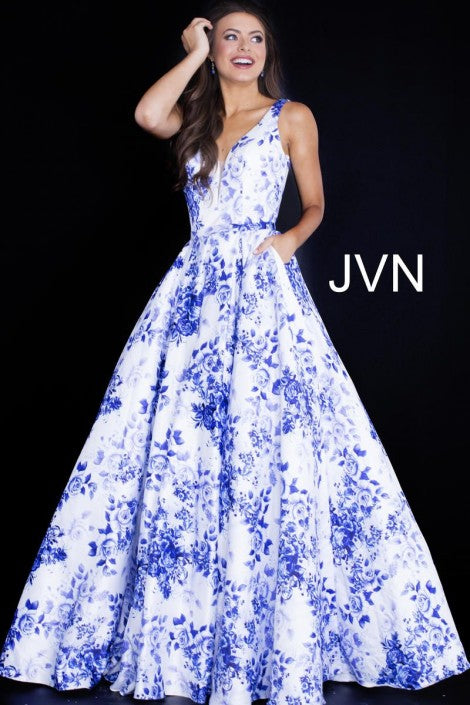 JVN BY JOVANI JVN60561 FLORAL BALL GOWN