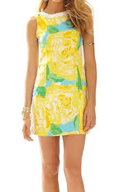LILY PULITZER First Impressions Sunglow Mila Shift Dress Size 2