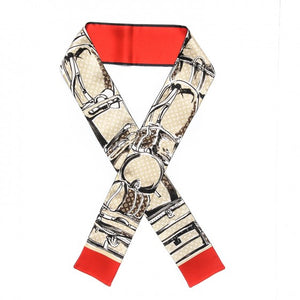 LOUIS VUITTON Red New Monogram Trunks Bandeau Scarf/Wrap
