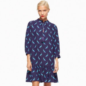KATE SPADE Full Plume Peacock Silk Dress Size XL NWT