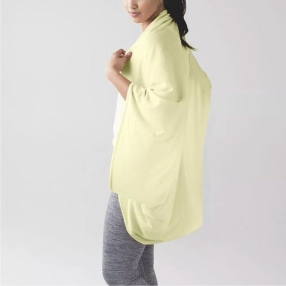 LULULEMON Sage Scarf Pima Cotton Lemon Zest Yellow One Size NWOT