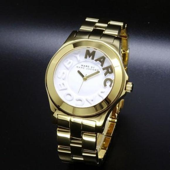 MARC BY MARC JACOBS Gold Rivera White Dial Gold Ion-Plated Unisex Watch