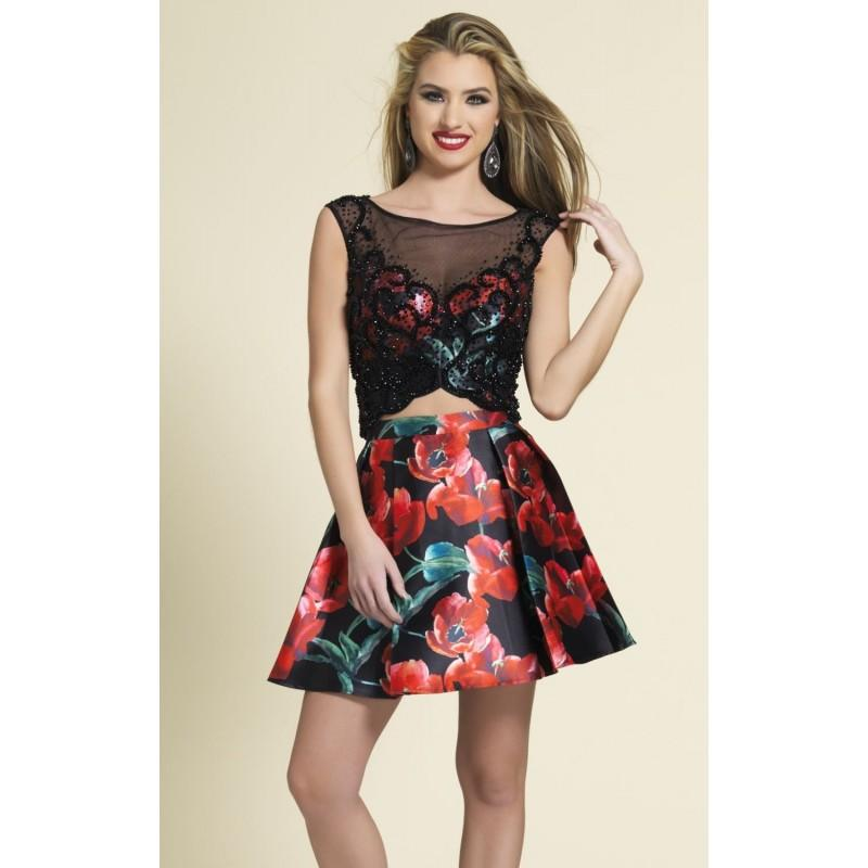 DAVE AND JOHNNY TWO-PIECE FLORAL PLEATED SIZE 1/2