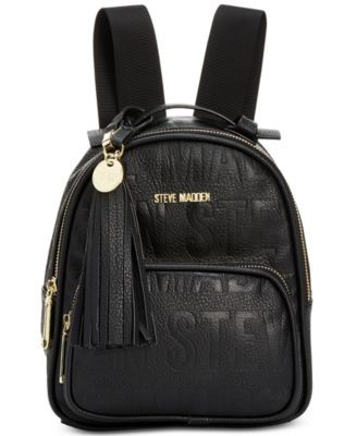 STEVE MADDEN Bb Logo Faux Leather Backpack