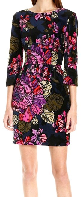 TRINA TURK Short Velvet Floral Sheath Dress Size 10
