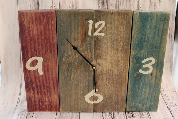 Beachy Reclaimed Wood Clock