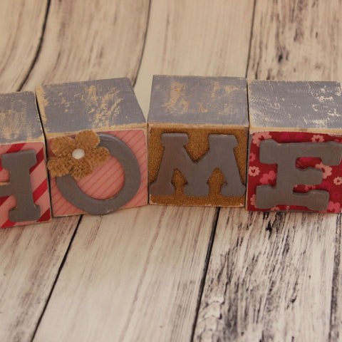 Wooden Home Block Decor