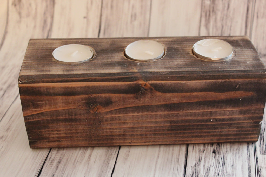 Small Rustic Candle Holder