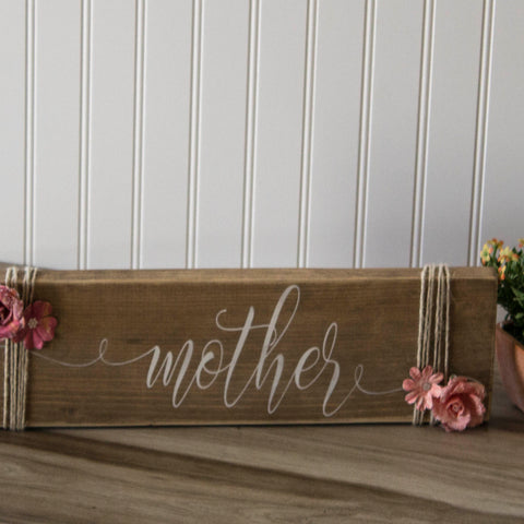 Rustic Mother Sign