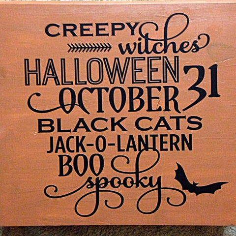 Creepy Witches Halloween Sign