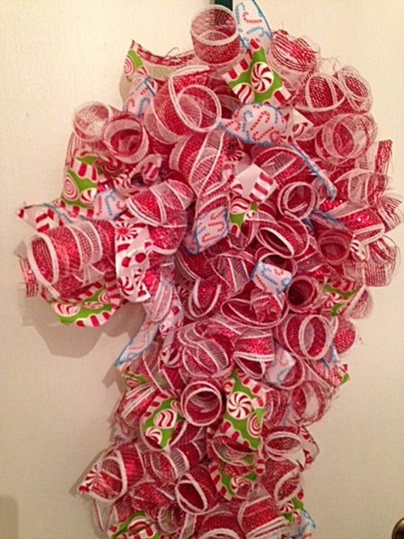 Large Candy Cane Wreath