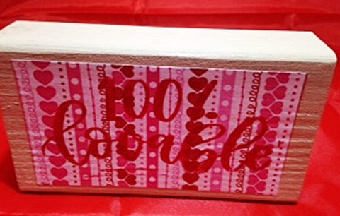 Personalized Valentine's Day Wood Block