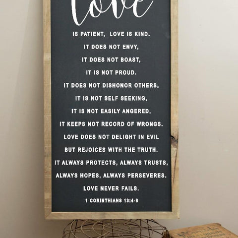 Farmhouse Corinthians 13 Sign