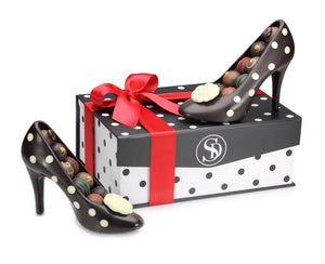 Pair of Chocolate High Heel Shoes