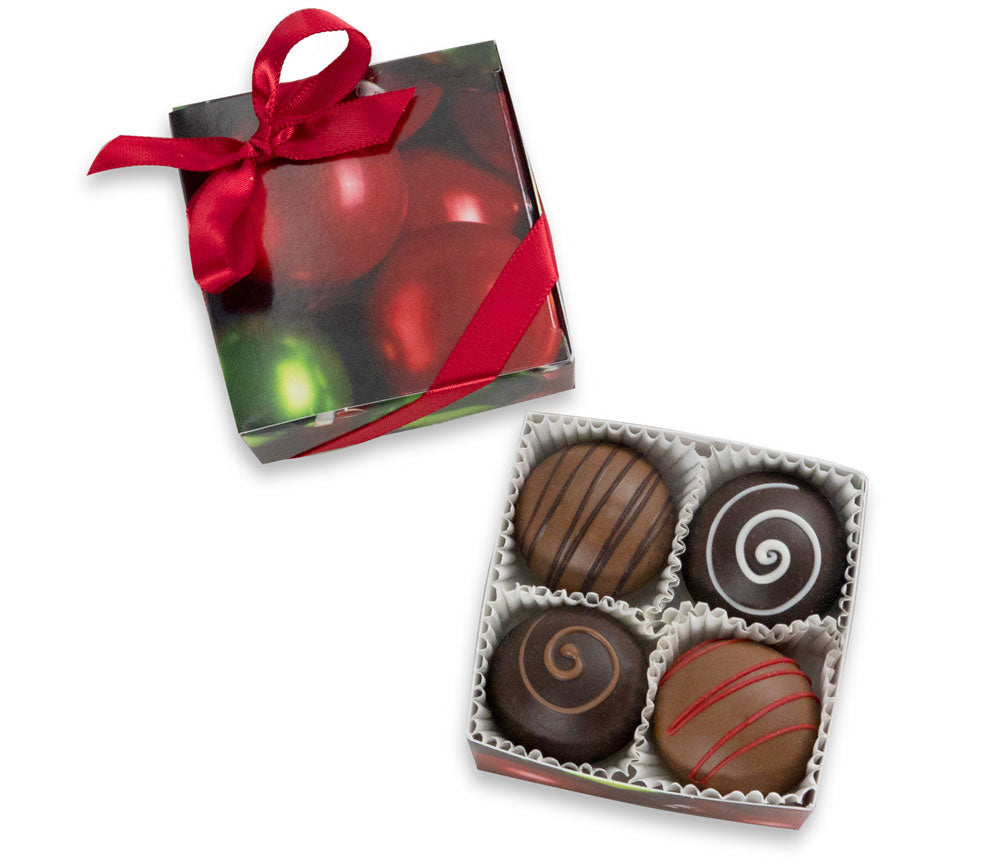 4-Piece Christmas Truffles