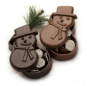 Chocolate Snowman Dish