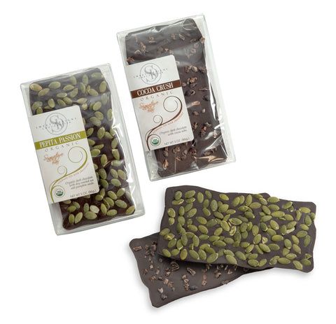 Vegan 70% Dark Chocolate Pepita / Cocoa Nibs Bar