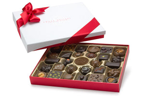 A dream come true for real chocolate lovers. Made with our specially-blended chocolate and the very best ingredients, this 30-piece box is the perfect gift for those who appreciate the fine art of chocolate making.