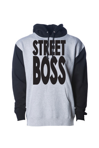 STREET BOSS Pull Over Hoodie Grey / Black