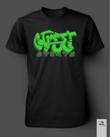 Street Stunts Tagged T-Shirt BLACK