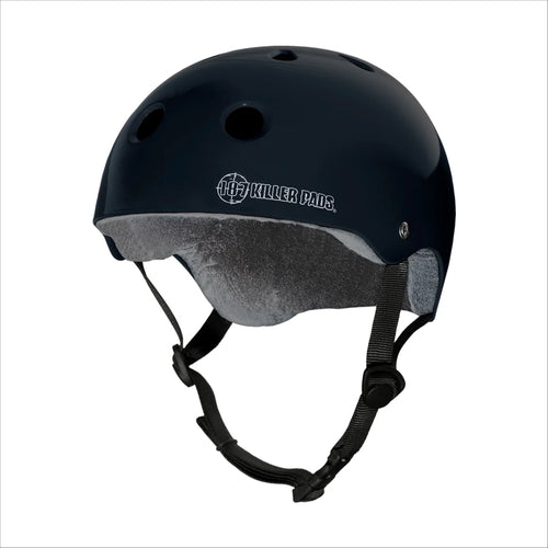 187 PRO SKATE HELMET with Sweat Saver Liner - Black Glossy