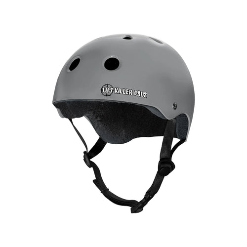 187 PRO SKATE HELMET with Sweat Saver Liner - Charcoal Matte - Urban Ave Boardshop