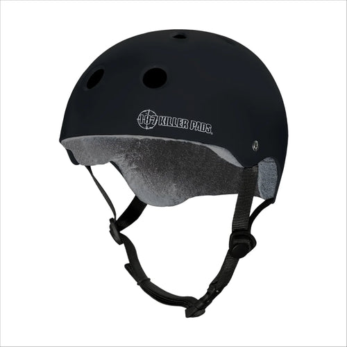 187 PRO SKATE HELMET with Sweat Saver Liner - Black Matte - Urban Ave Boardshop