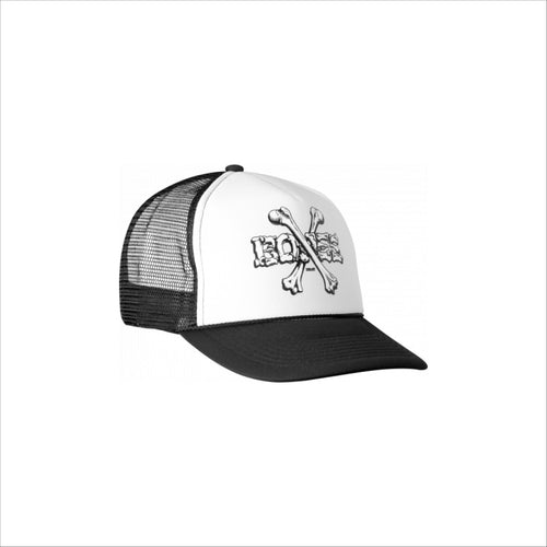 Powell Peralta Cross Bones Trucker Cap - Black/White - Urban Ave Boardshop