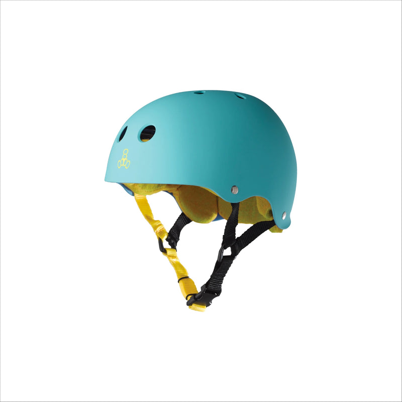 TRIPLE 8 Sweatsaver Helmet Baja Teal Rubber - Urban Ave Boardshop