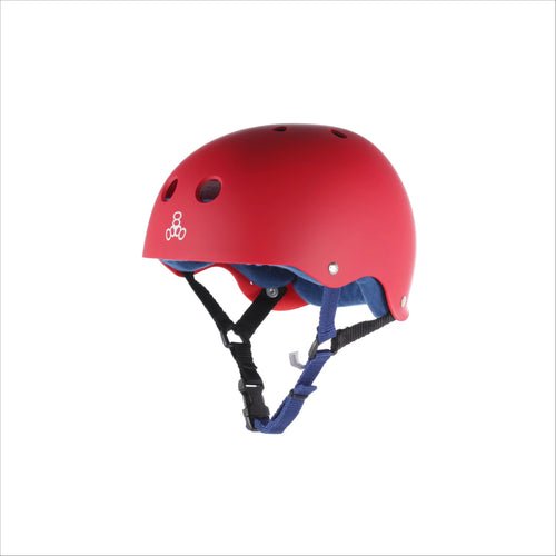 TRIPLE 8 Sweatsaver Helmet RED RUBBER - Urban Ave Boardshop