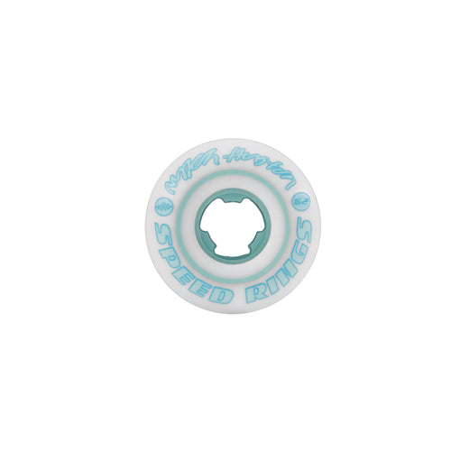 RICTA 52MM NYJAH HUSTON SPEED RINGS WHITE TEAL 81B - Urban Ave Boardshop